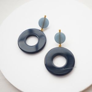 Madewell Circle Resin Statement Earrings